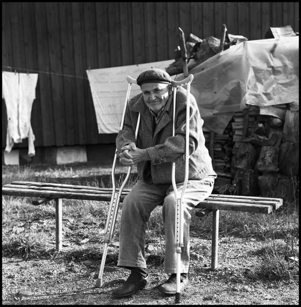 Charles A. Meyer: Man with Crutches